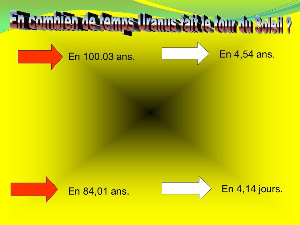 En combien de temps Uranus fait le tour du Soleil