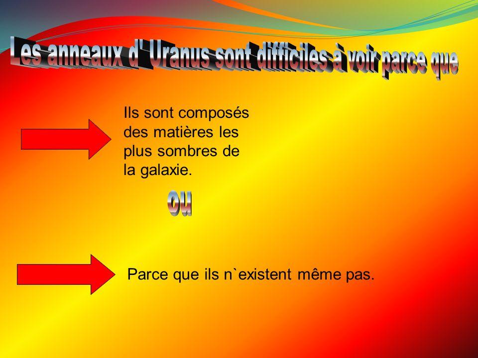 Les anneaux d Uranus sont difficiles à voir parce que