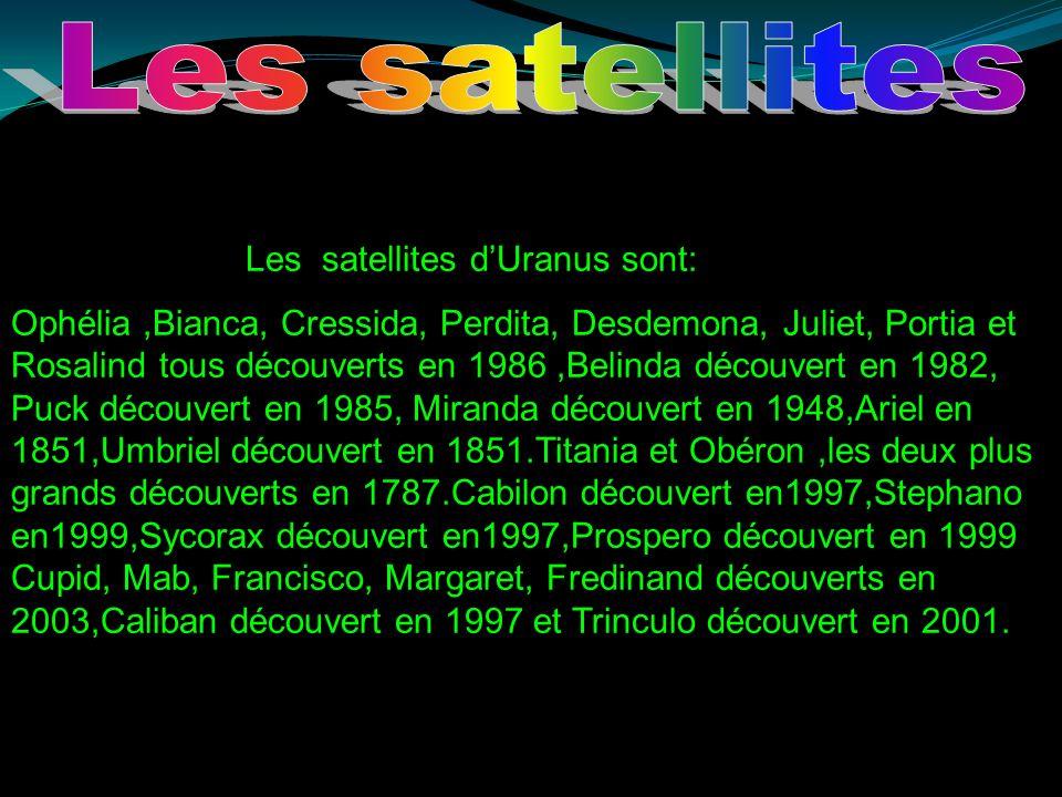 Les satellites Les satellites d'Uranus sont: