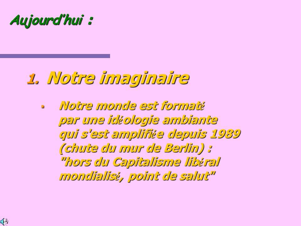 Notre imaginaire Aujourd'hui :