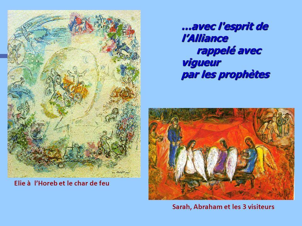 Elie à l'Horeb et le char de feu Sarah, Abraham et les 3 visiteurs
