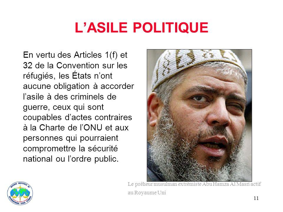 L'ASILE POLITIQUE