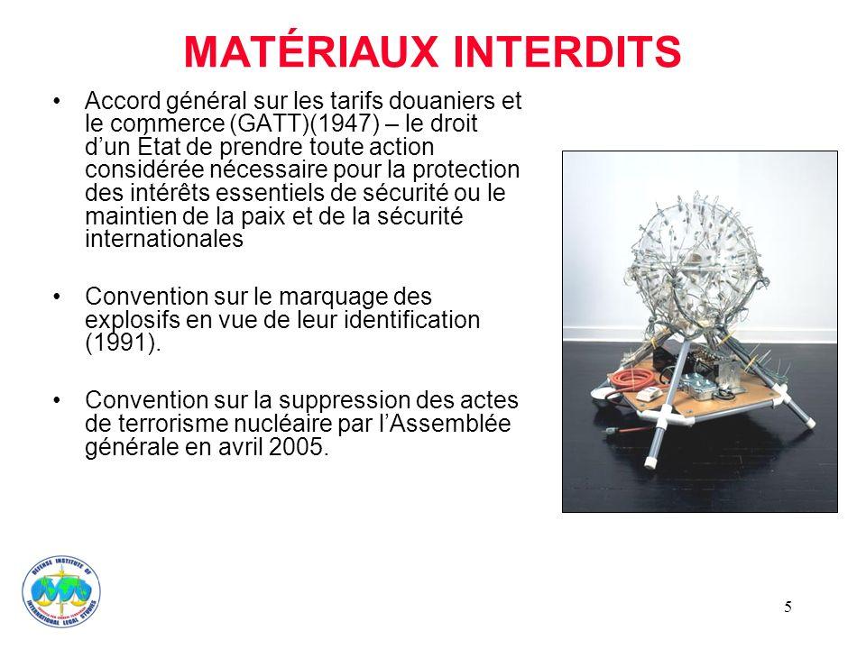 MATÉRIAUX INTERDITS