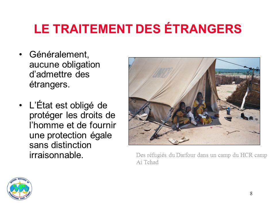 LE TRAITEMENT DES ÉTRANGERS