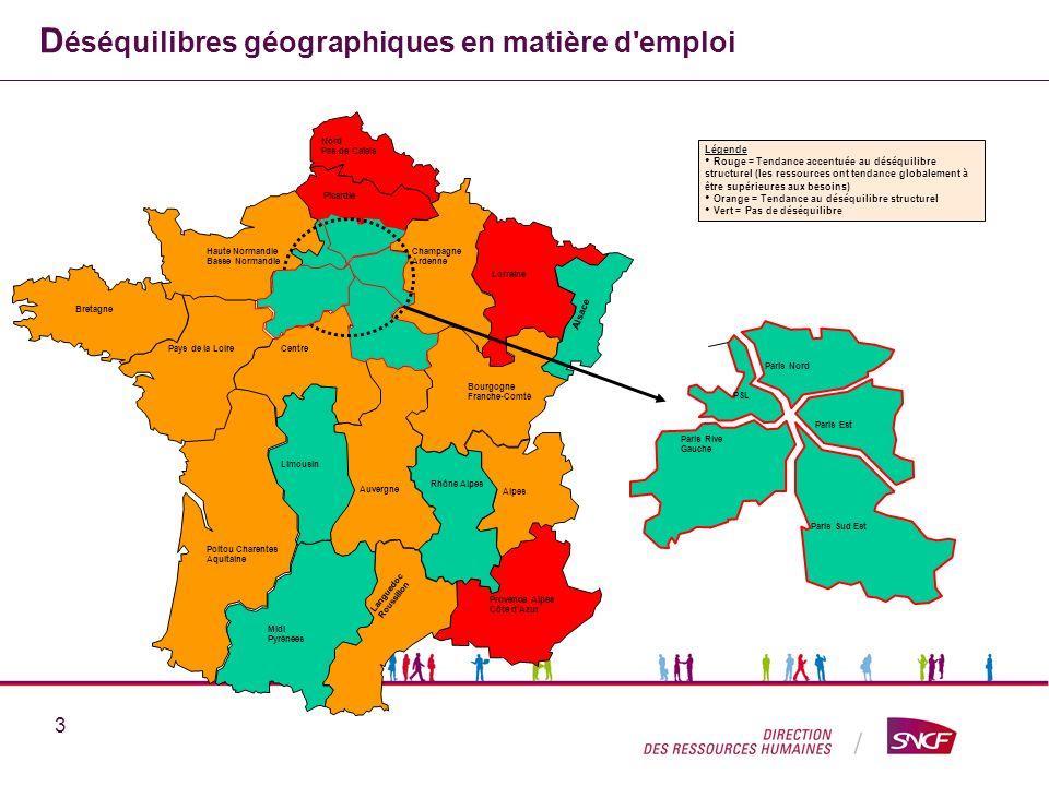 Déséquilibres géographiques en matière d emploi