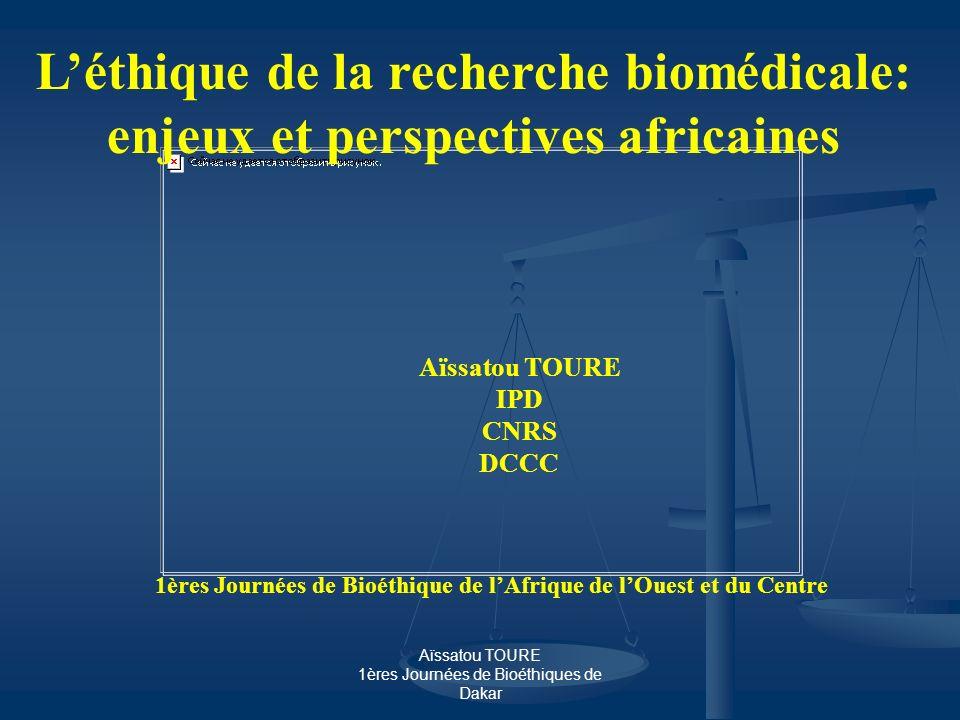 1ères Journées de Bioéthique de l'Afrique de l'Ouest et du Centre