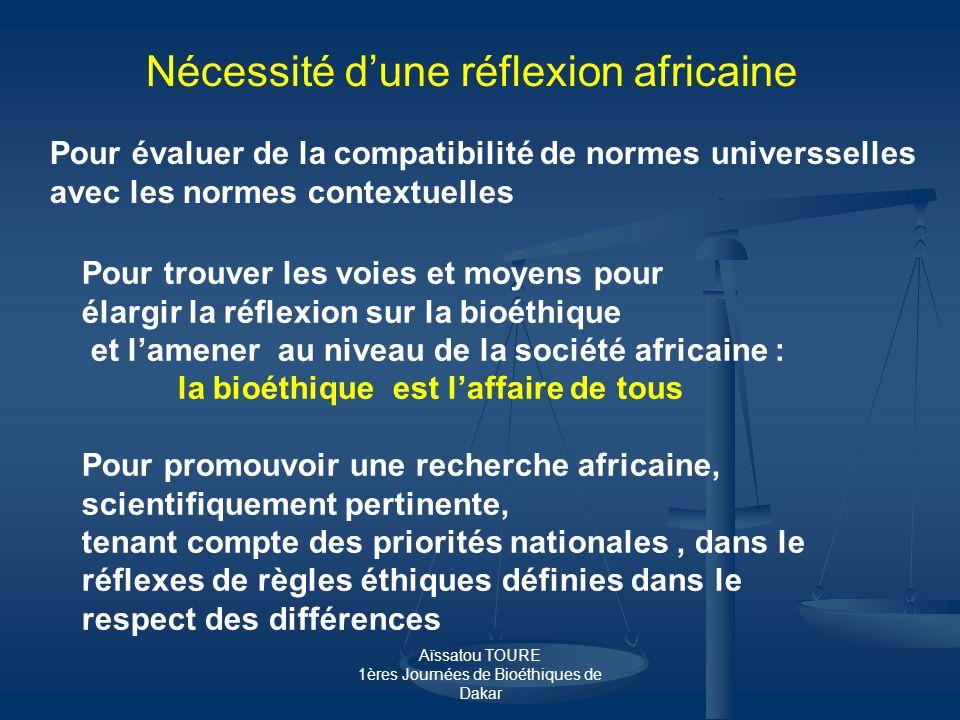 Nécessité d'une réflexion africaine