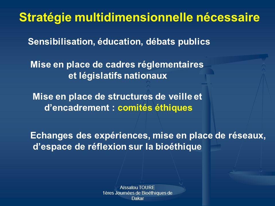 Stratégie multidimensionnelle nécessaire