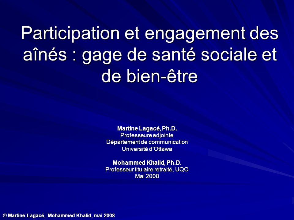 Participation et engagement des aînés : gage de santé sociale et de bien-être