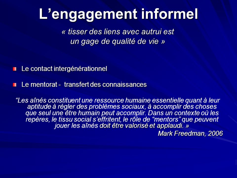L'engagement informel
