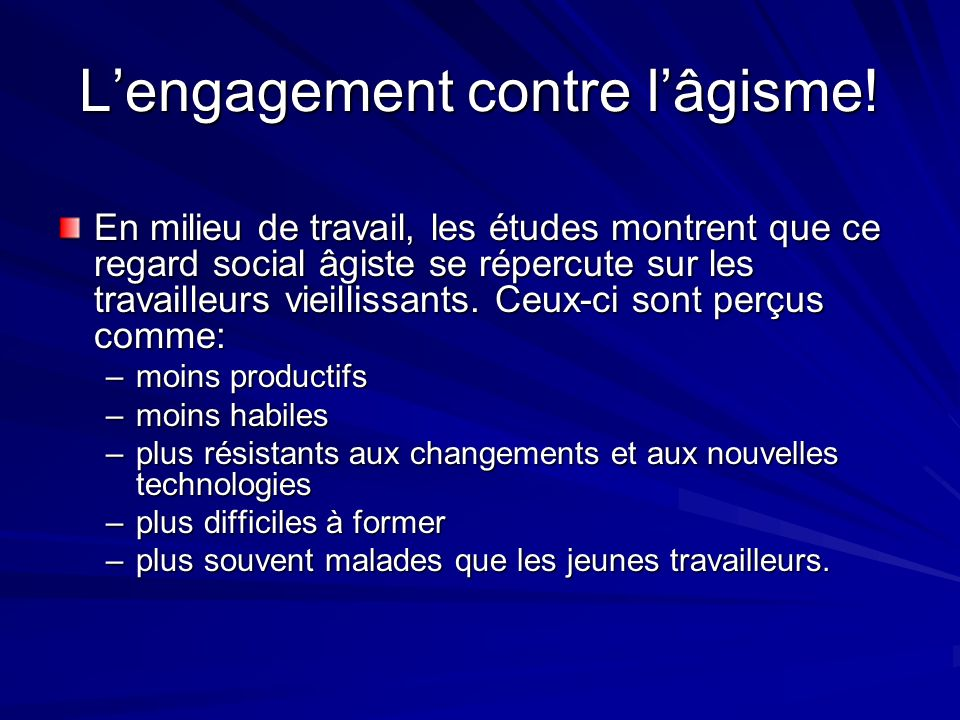 L'engagement contre l'âgisme!