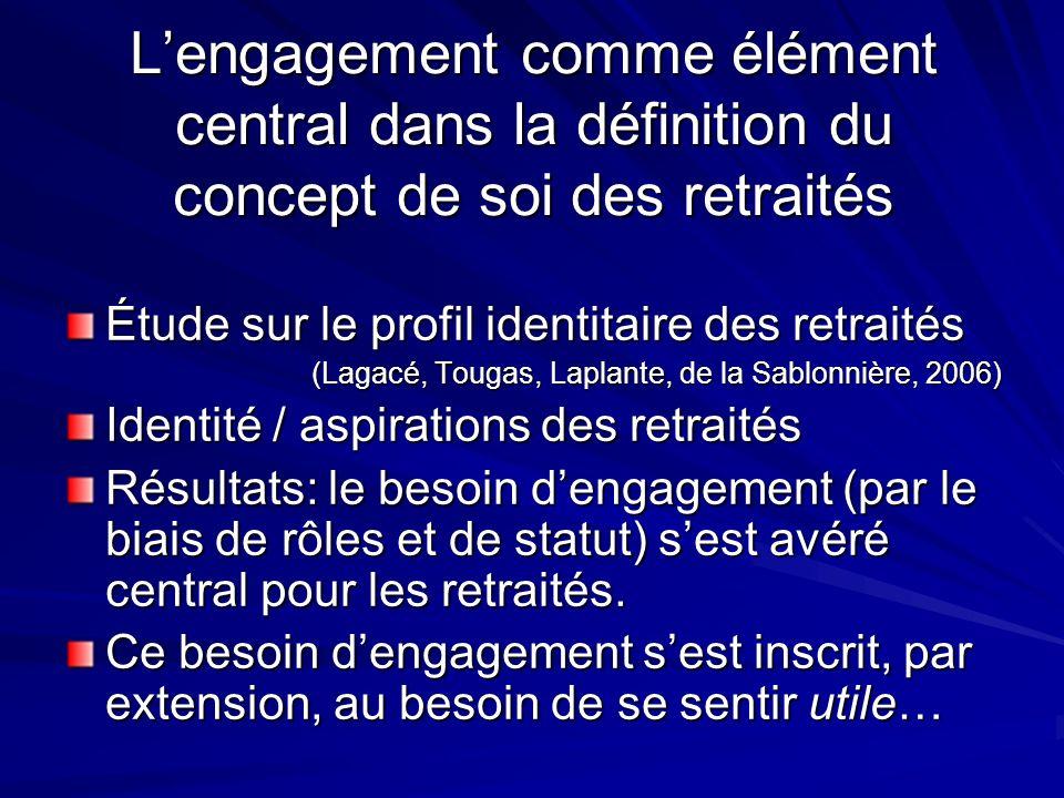 L'engagement comme élément central dans la définition du concept de soi des retraités