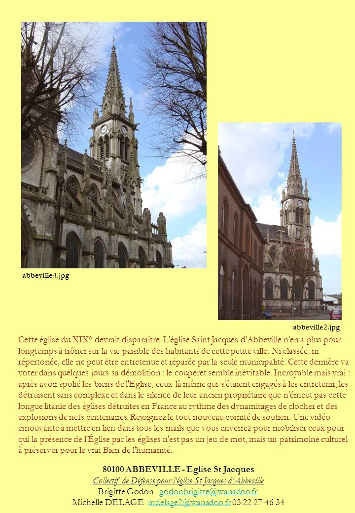 80100 ABBEVILLE - Eglise St Jacques