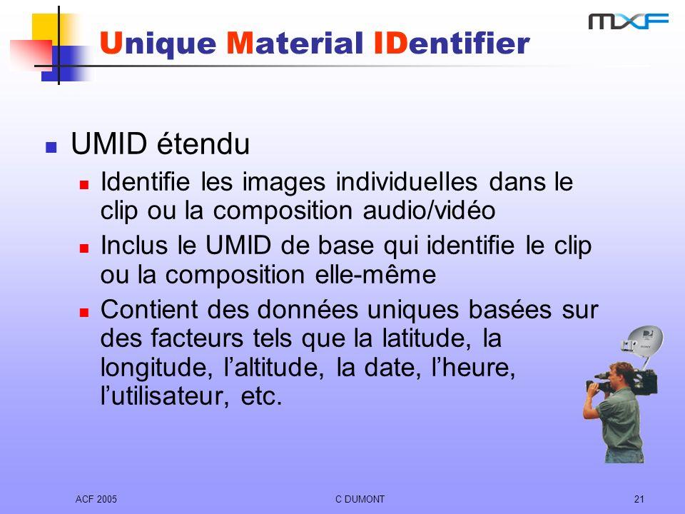 Unique Material IDentifier