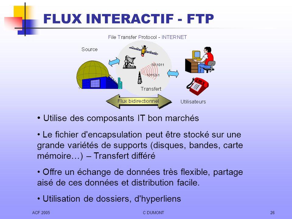 FLUX INTERACTIF - FTP Utilise des composants IT bon marchés