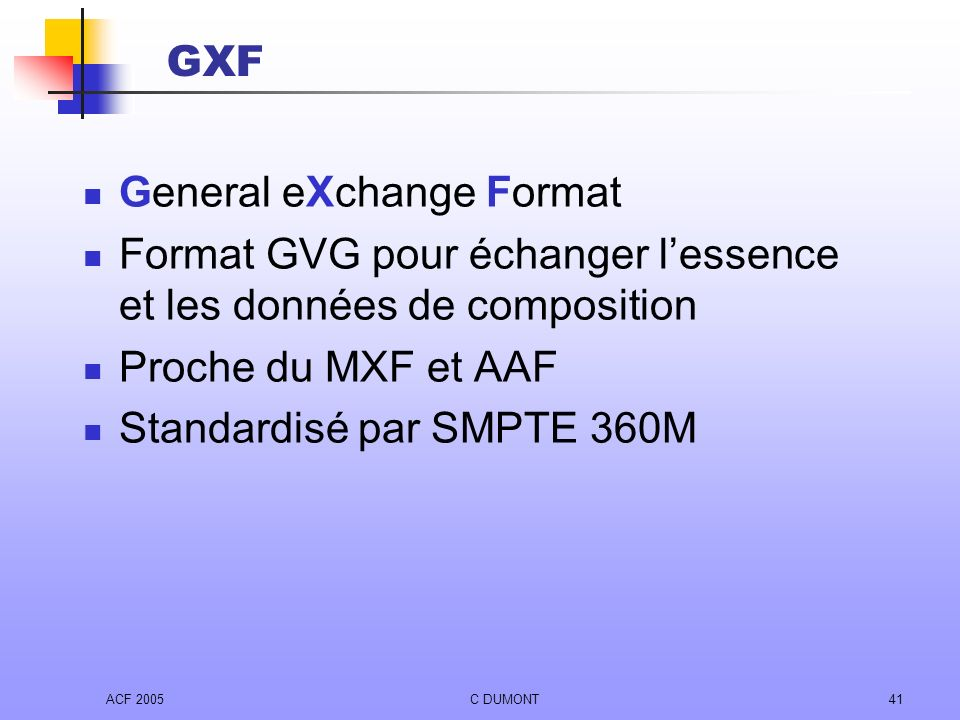 General eXchange Format