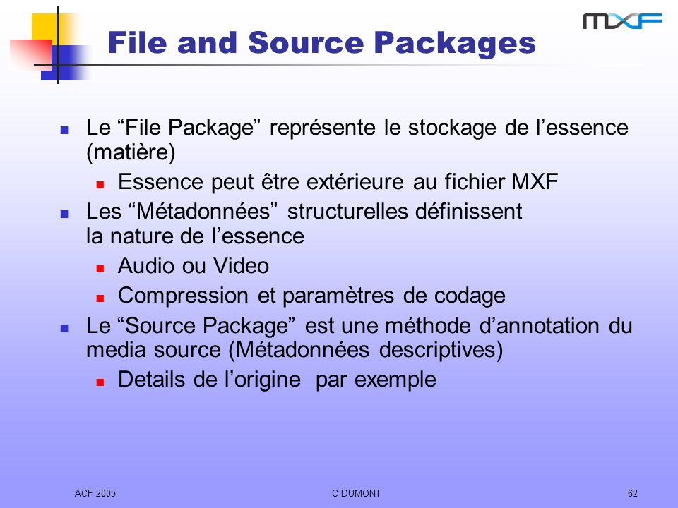 File and Source Packages