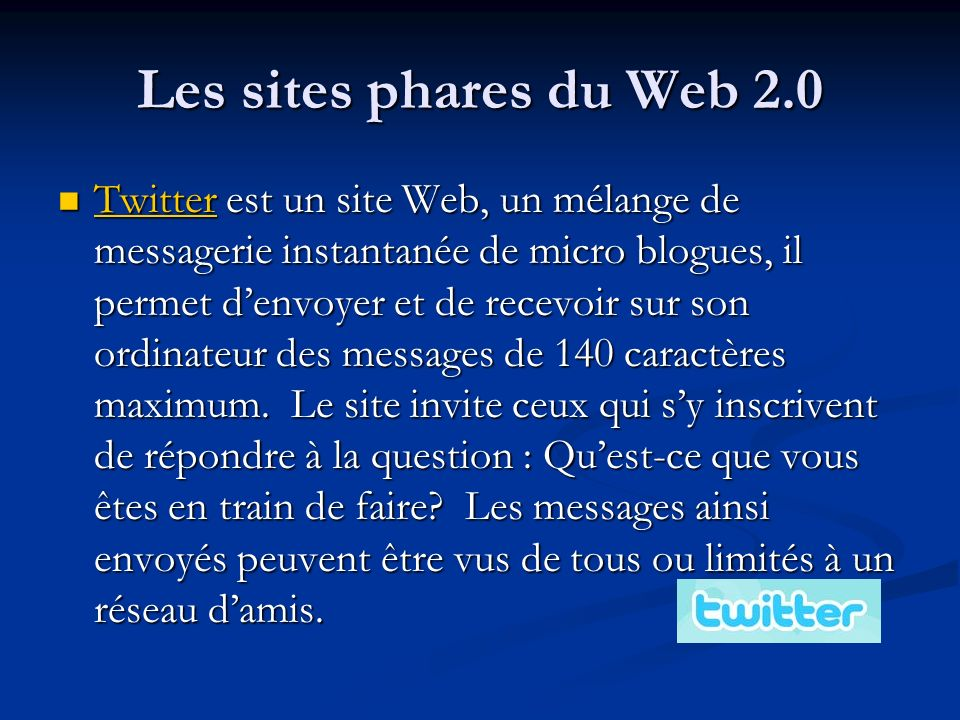 Les sites phares du Web 2.0