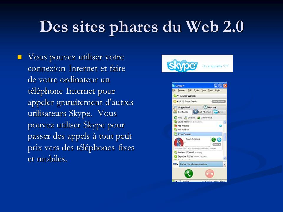 Des sites phares du Web 2.0
