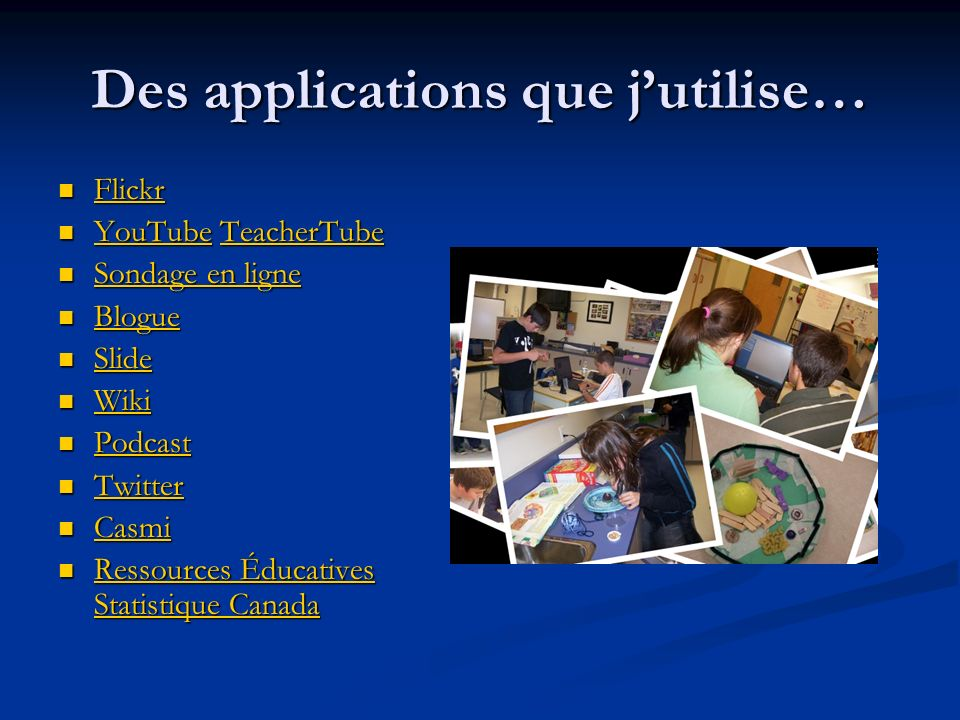 Des applications que j'utilise…