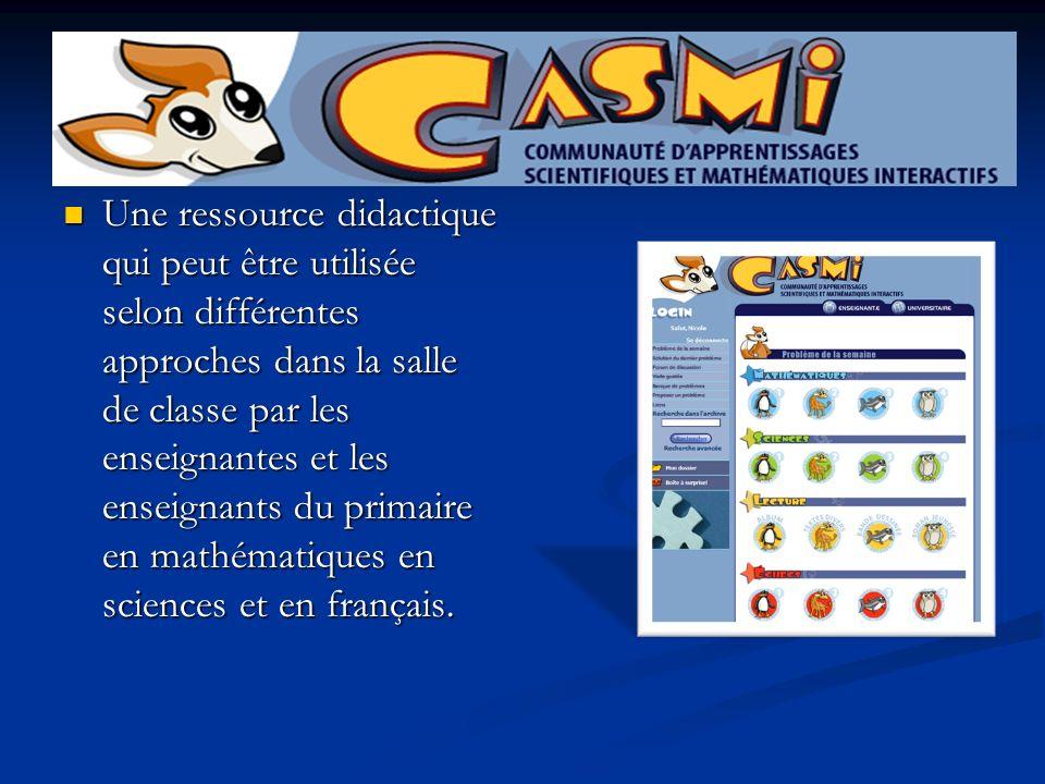 Une ressource didactique qui peut être utilisée selon différentes approches dans la salle de classe par les enseignantes et les enseignants du primaire en mathématiques en sciences et en français.