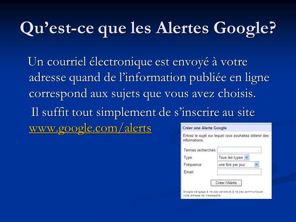 Qu'est-ce que les Alertes Google