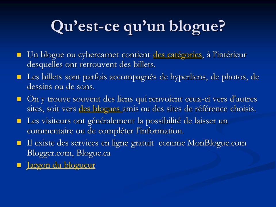 Qu'est-ce qu'un blogue