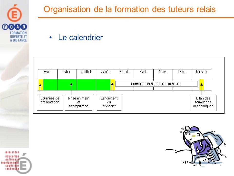 Organisation de la formation des tuteurs relais