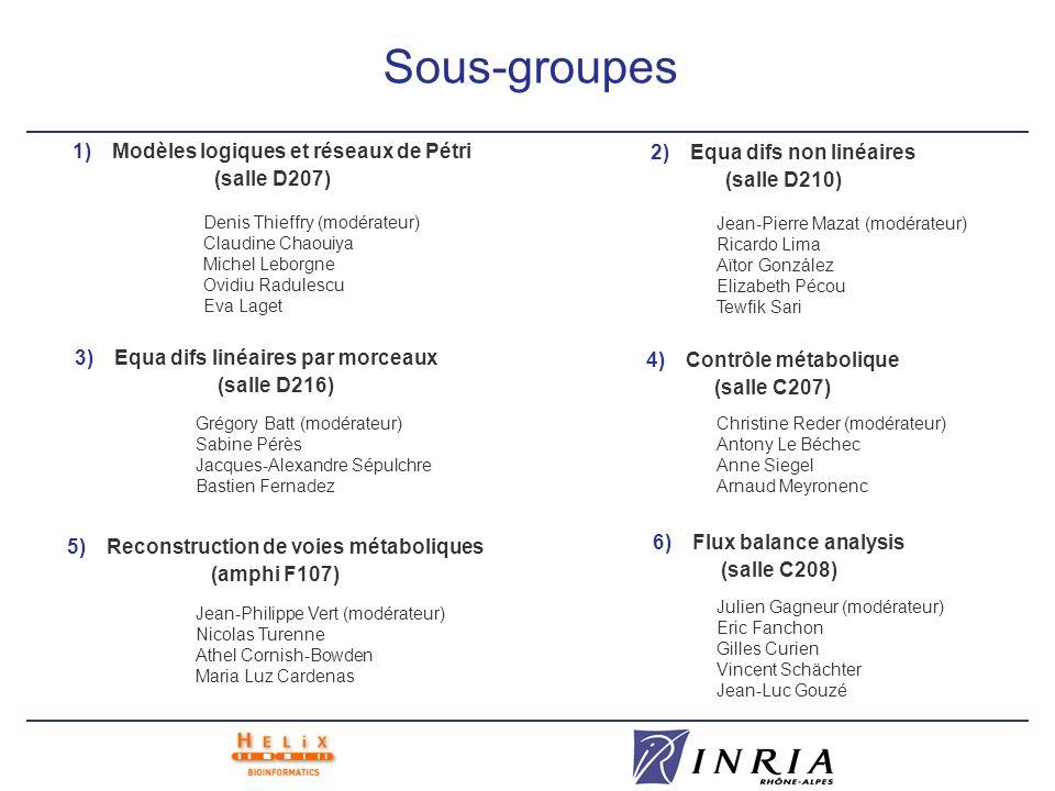 Sous-groupes Modèles logiques et réseaux de Pétri