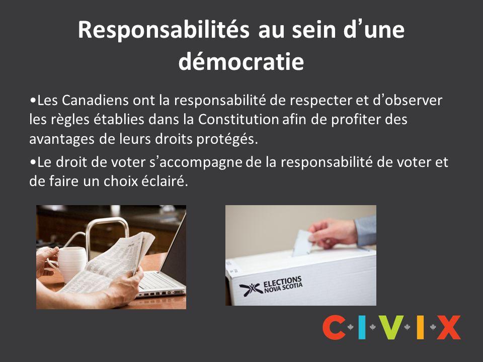 Responsabilités au sein d'une démocratie