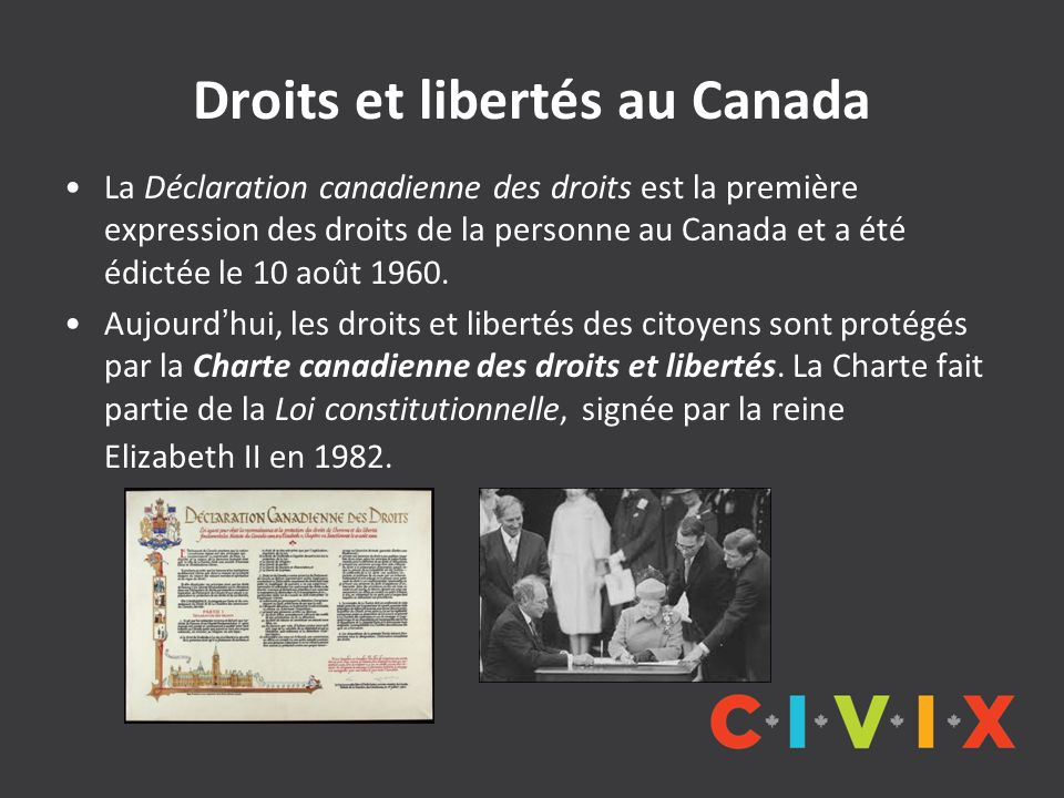 Droits et libertés au Canada