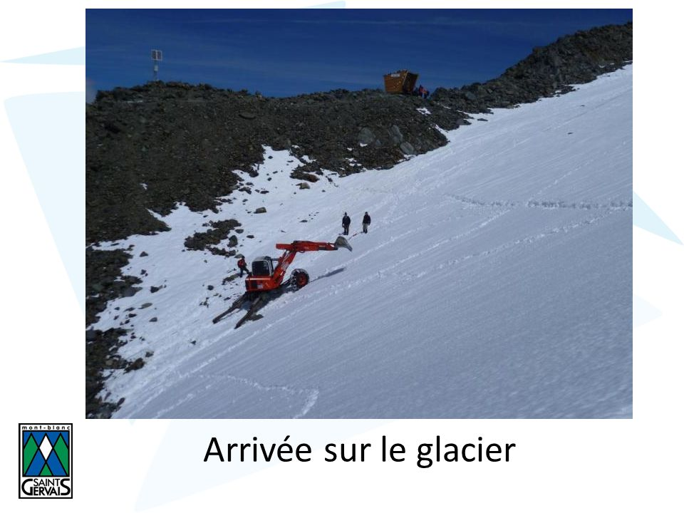 Arrivée sur le glacier
