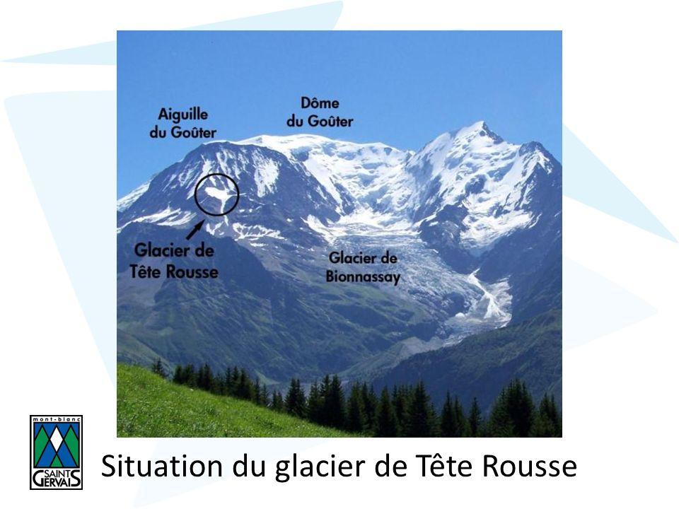 Situation du glacier de Tête Rousse