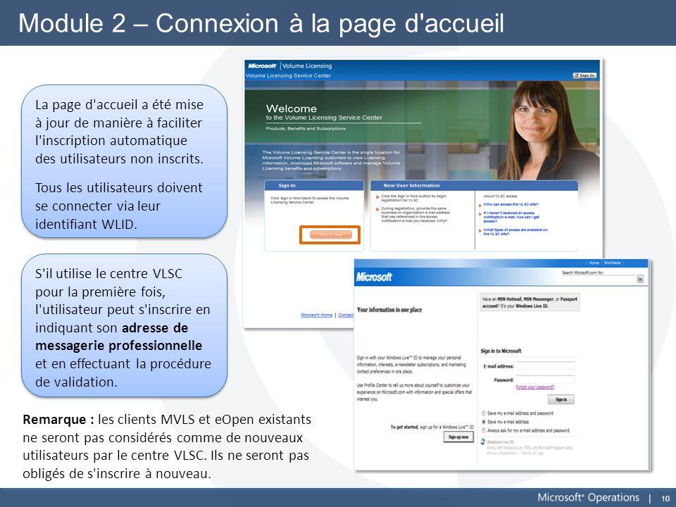Module 2 – Connexion à la page d accueil