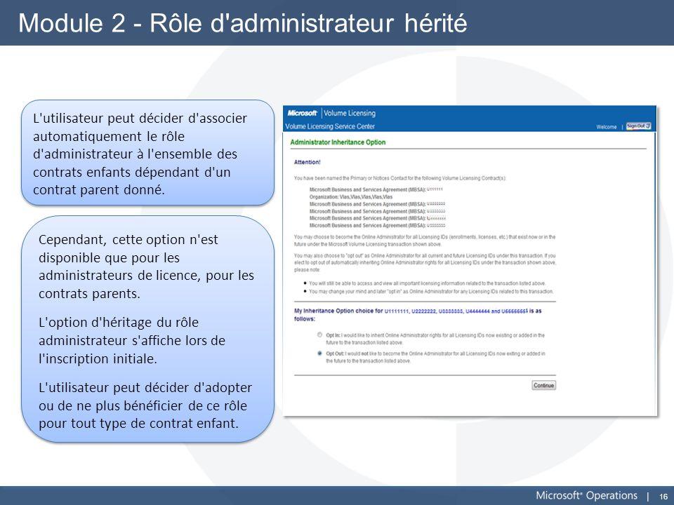 Module 2 - Rôle d administrateur hérité