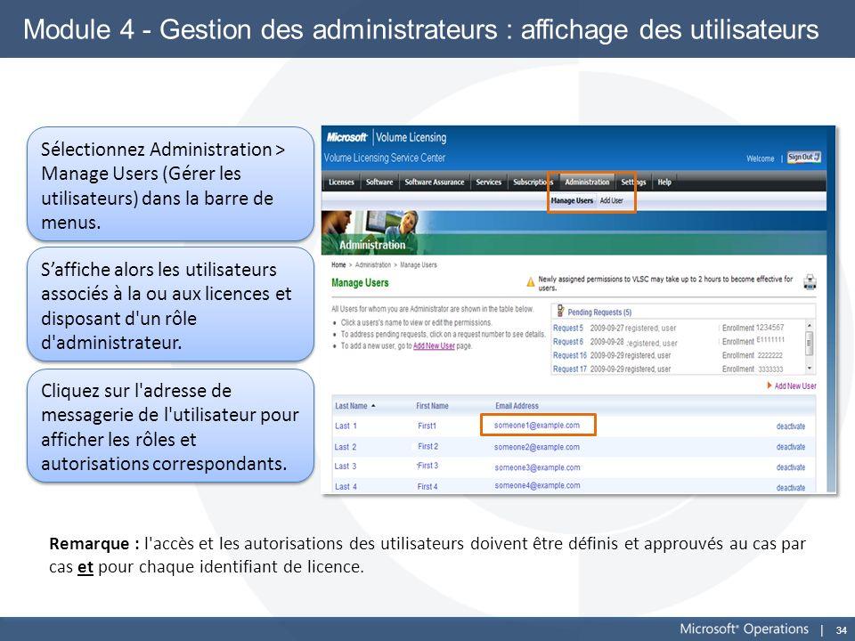 Module 4 - Gestion des administrateurs : affichage des utilisateurs