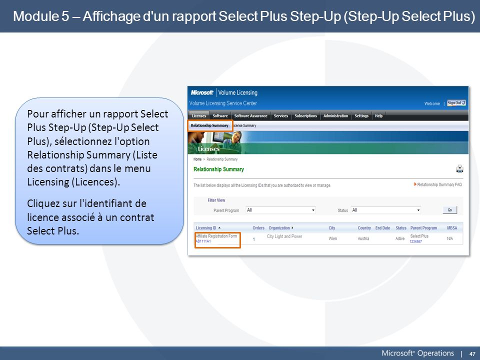 Module 5 – Affichage d un rapport Select Plus Step-Up (Step-Up Select Plus)
