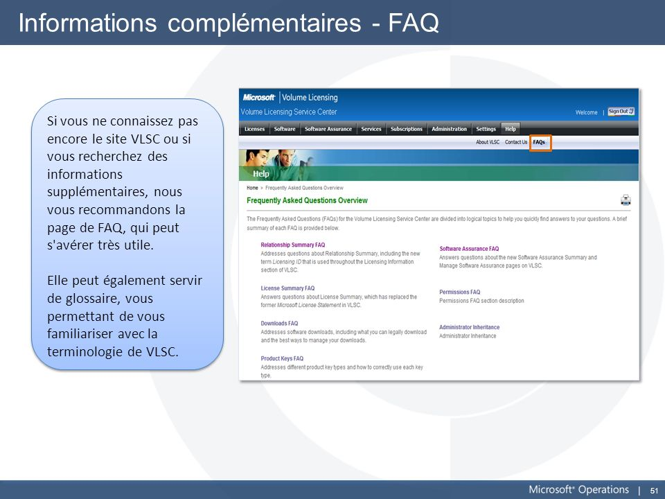 Informations complémentaires - FAQ
