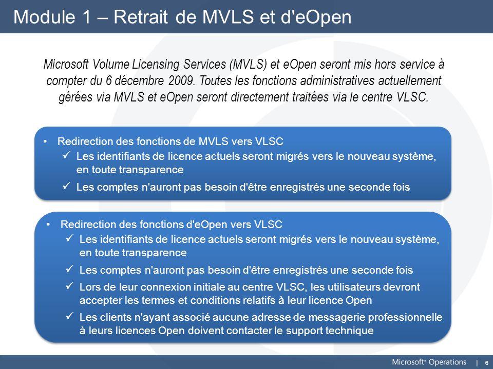 Module 1 – Retrait de MVLS et d eOpen