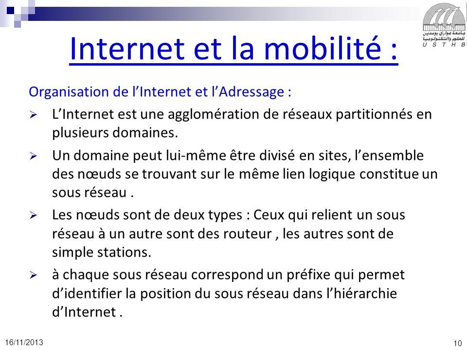 Internet et la mobilité :