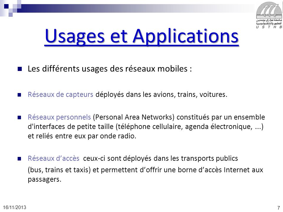 Usages et Applications