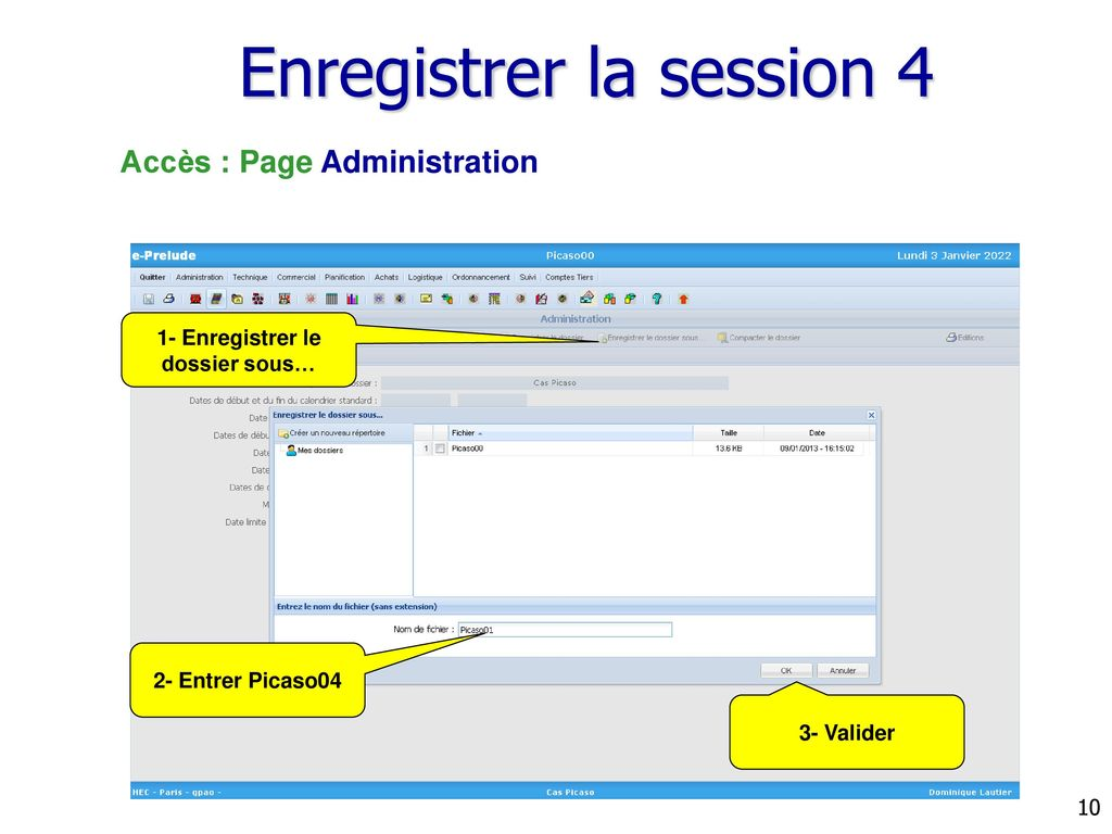 Enregistrer la session 4