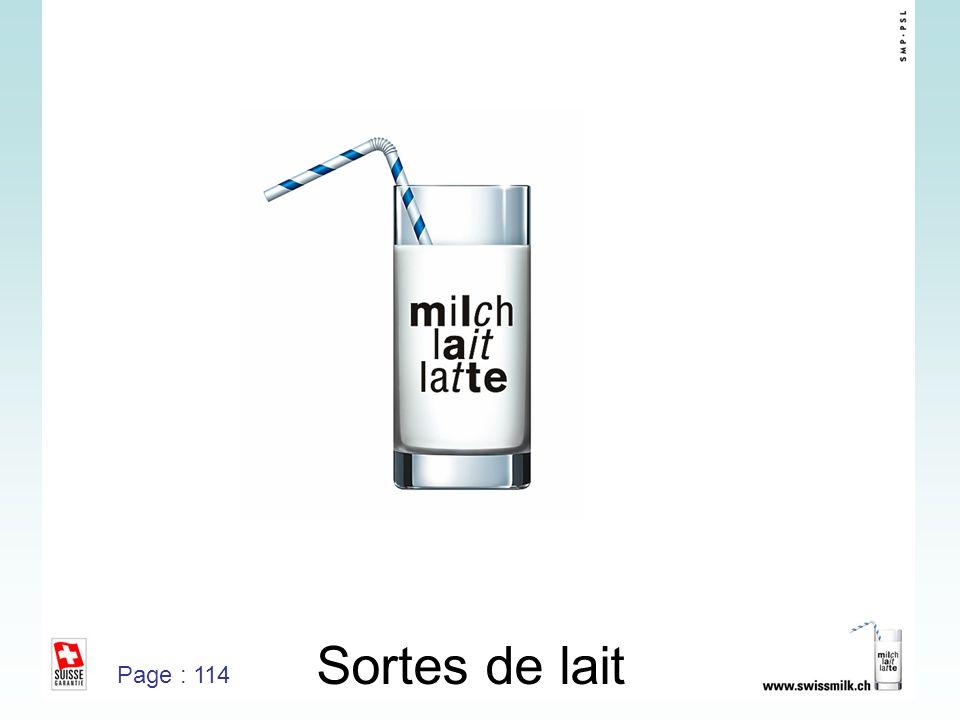 Sortes de lait Page : 114
