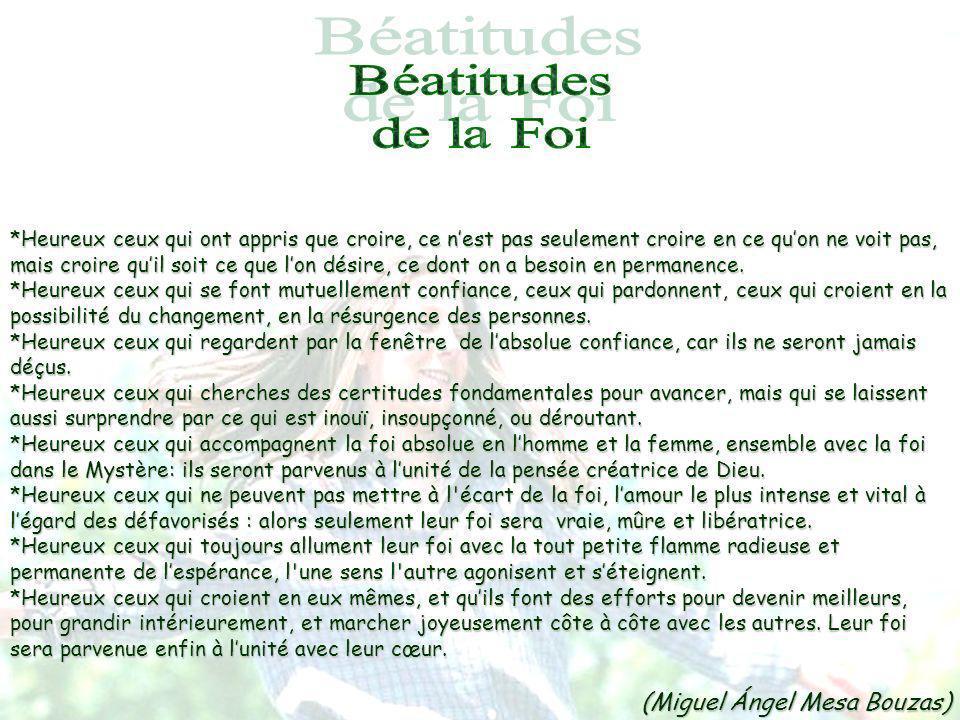 Béatitudes de la Foi (Miguel Ángel Mesa Bouzas)
