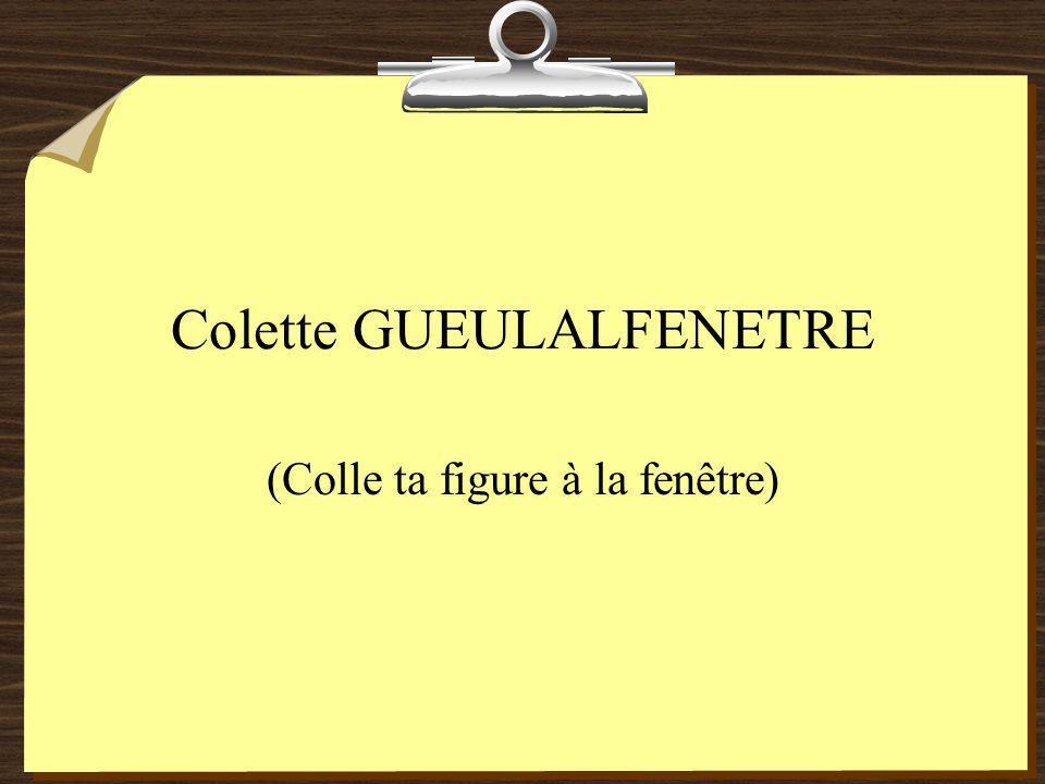 Colette GUEULALFENETRE