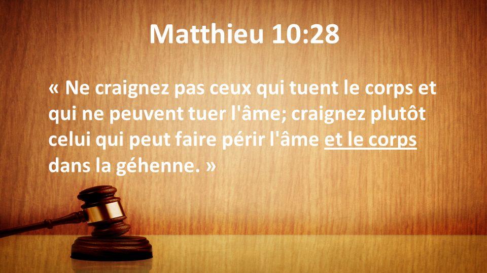 Matthieu 10:28