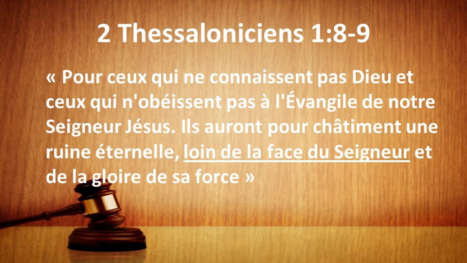 2 Thessaloniciens 1:8-9