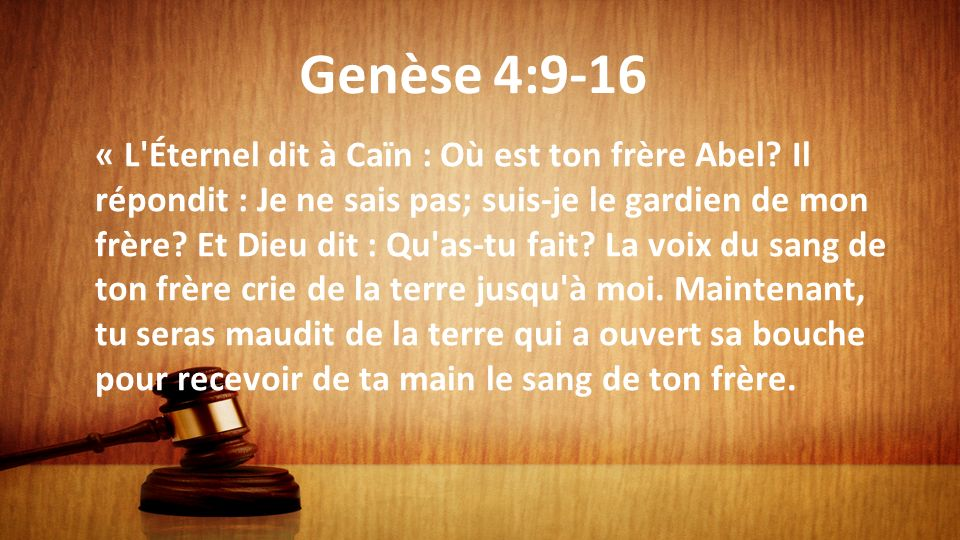 Genèse 4:9-16
