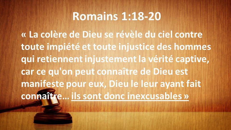 Romains 1:18-20