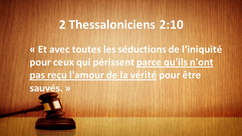 2 Thessaloniciens 2:10